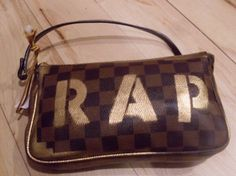 RAP Spray Painted Louis Vuitton Inspired Bag  by atribecalledmel, $90.00