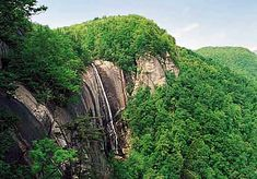 Chimney Rock Park, NC... the waterfall is a great place to relax