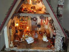 Dollhouse inspired by the Brambly Hedge books by Jill Barklem