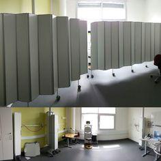 Endoskopi afsnit på OUH Odense Universitetshospital har fået nyt lokale, hvor rummet skal kunne opdeles helt eller delvist. Det er løst med foldeskærme i højden 1,85 m og længden 3,25 m., heraf to skruet til væg og en mobil. Læs mere om vores produktsortiment her http://www.silentia.eu/da/produkter/vores-produktsortiment/