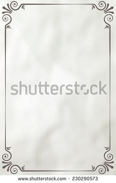Vintage frame on paper background - place for your text. Vector illustration.