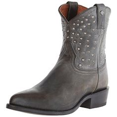 Harley-Davidson Womens Kira Leather Distressed Motorcycle Boots