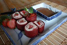 Tout Cru Dans Le Bec: Sushis dessert à la fraise