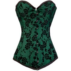 Product Image ❤ liked on Polyvore featuring tops, corsets, shirts, green, corsette tops, green corset top, shirts & tops, corset shirt and green corset