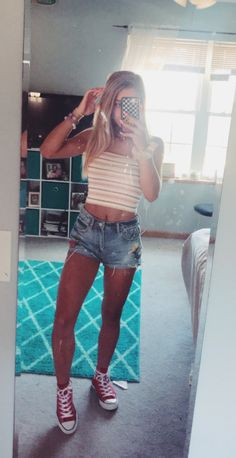 summer fashion trends which looks fab 82239 Cute Summer Outfits, Cute Casual Outfits, Spring Outfits, Summer Ootd, Teenager Outfits, Outfits For Teens, Teen Fashion, Fashion Outfits, Latest Fashion