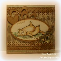 Art Impressions Rubber Stamps Feline Set (Sku#4193) Zoo Crew handmade card