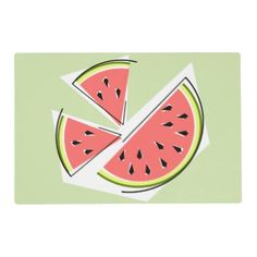 #stylish - #Watermelon Green Pieces placemat
