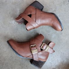 stacked heels cut out booties perfect to wear during the fall imported