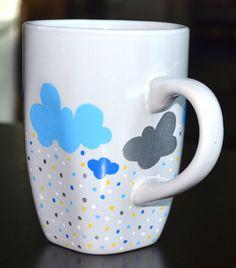 Etsy - Rain Cloud Hand Painted Mug