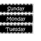 Houndstooth day of the week for your calendar...