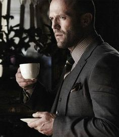 'I don't always drink coffee, but when I do it's dark, bold and full bodied' c(; Kelly Brook, Rosie Huntington Whiteley, Sexy Asian Men, Sexy Men, Hot Men, Jason Statham Family, Jason Staham, The Expendables, Jackie Chan