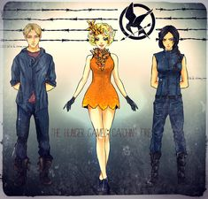 The Hunger Games: Katniss Everdeen: Katniss: Peeta Mellark: Peeta: Effie Trinket: Effie: The Hunger Games by Purple-Meow.deviantart.com on @deviantART