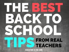 The Best Back to School Tips from Real Teachers - Education to the Core