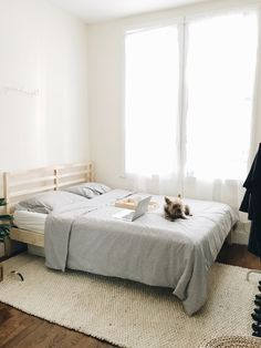Bedroom update with Rugs USA's Natura Handspun Jute! Master Room, Jute Rug, Rugs Usa, Beautiful Bedrooms, Interior Design, Inspiration, Furniture, Night, Sweet