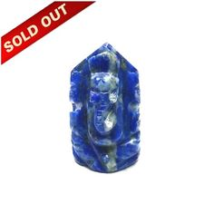 Elephant God ( Lord Ganesha) in Natural Lapis Lazully Gemstone Perfectly decorated by hand, Lord Ganesha carved from a single piece of Natural Lapis Lazully Gemstone, with golden flakes naturally distributed very intricately.  GEMSTONE : Lapis Lazully  WEIGHT: 11.30    Dimension : 16.70 x 10 x 8.60 mm Approx.