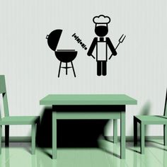 Barbeque BBQ Icon - Vinyl Wall Art Decal