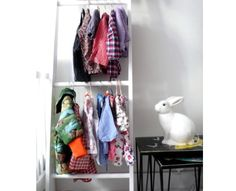 Ladder as clothing rack