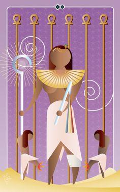 Noo Spinoolean Tarot - Six of Ankhs