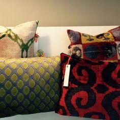 Beautiful Ikat- silk and velvet cushions by ananeo. Handmade in Munich. #ikat #cushions #pillows #decoration #interiordesign #bensshop #onlineshop #accessories #schwabing #maxvorstadt