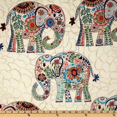 Ivory Boho Elephant Nursery Bedding Set