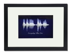 """Sound wave art in 3D """"I love you"""" ; Valentine's Day Gift; Personalize any voice message for dad , mom; from son, daughter, kids"""
