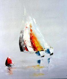 Le voilier , peinture de Yokozaza