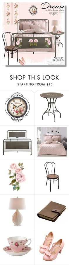 """Home Decor: Bedroom"" by rosidew ❤ liked on Polyvore featuring interior, interiors, interior design, home, home decor, interior decorating, WALL, Rear View Prints, Royal Albert and Love Quotes Scarves"