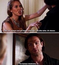 And Sam pulls a Dean quip!