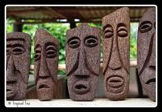 Image result for carved tree fern trunk Tree Fern, Tree Carving, Ferns, Sculptures, Ceramics, Pastries, Garden Ideas, Gardening, Business