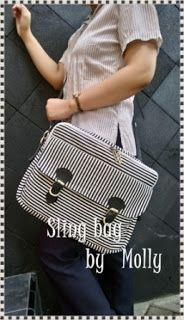 TAS HANDMADE: Strippy sling bag