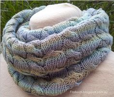 Bunker Bay Cowl - good hints on keeping track of rows - FitzBirch Crafts
