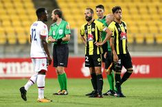 Andrew Durante and Logan Rogerson of the Phoenix look dejected after the round 18 A-League match between the Wellington Phoenix and Adelaide United at Westpac Stadium on January 27, 2018 in Wellington, New Zealand.
