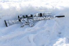 Snow Camo AR Varminter Airsoft Guns, Weapons Guns, Guns And Ammo, Firearms, Shotguns, Weapon Of Mass Destruction, Shooting Guns, Custom Guns, Hunting Rifles