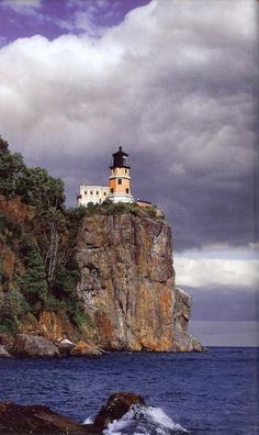 Superbe Split Rock Lighthouse, Lake Superior Minnesota USA