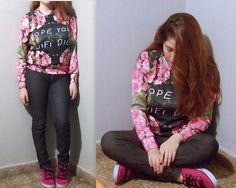 #sheinside #floral #sweatshirt