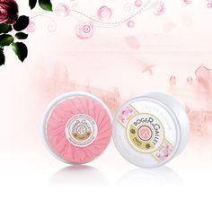 Rose relaxant scented soap - Savon parfumé Boîte voyage 100g from Roger & Gallet (Paris)
