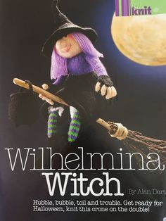 Excited to share the latest addition to my #etsy shop: Alan Dart's Wilhelmina Witch Knitting Pattern Knitting Needles, Knitting Yarn, Knitting Patterns, Simply Knitting, Double Knitting, Alan Dart, Knitting Magazine, Darts, Stuffed Toys Patterns