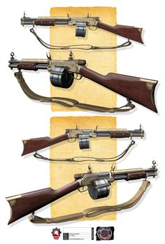 Steampunk Shotgun for Mist of Stagnation by rmory Studios just stumbled over a bunch of really really old work Steampunk Artwork, Steampunk Weapons, Zombie Weapons, Sci Fi Weapons, Weapon Concept Art, Fantasy Weapons, Weapons Guns, Steampunk Mechanic, Mangaka Anime