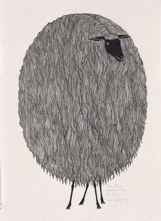 I used to have a book of these prints; Jacques Hnizdovsky - The Sheep, woodcut, 1961 Gravure Illustration, Art And Illustration, Inspiration Art, Art Inspo, Image New, Grafik Design, Art Plastique, American Art, Printmaking