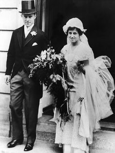 Joseph P Kennedy and Rose Fitzgerald Kennedy, on their wedding day in 1914
