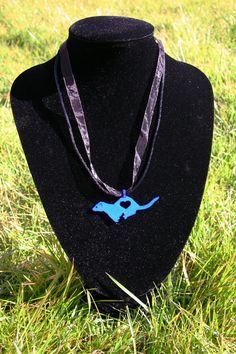Ferret Pendant ferret necklace memorial 3D by fuzzbumdesigns