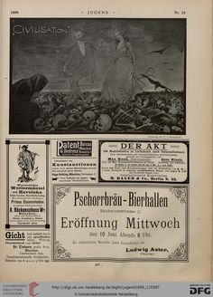Jugend, German illustrated weekly magazine for art and life, Volume 1.1, 1896.