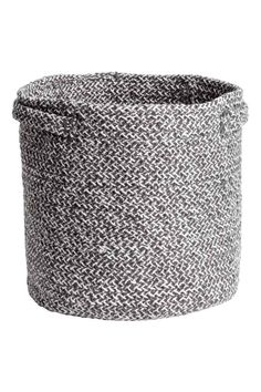 Cotton Storage Basket - Dark gray melange - Home All | H&M CA 1