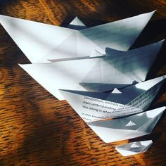 So what floats your boat? This is the first model I learned to fold at about age 4. Mrs. Bondy taught this to me in church to keep me occupied and quiet. Little did she know the impact it would have on my life.  Day 51 of #the100dayproject #100daysoffolding #kcartist #paperflexia #paperfolding #tw #origami #amandajolley #viriditas #종이접기 #boat #studiojoy