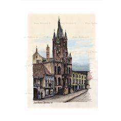 Het Oude stadhuis van Eindhoven aan de Rechtestraat, geschilderd door Jopie Retera-Jurriens (1934-2015) Als u deze reproductie besteld gaat 50% van de opbrengst naar het Reumafonds. (zie nieuwsrubriek op deze site)