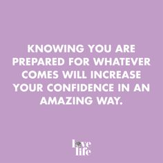 You are prepared for whatever comes your way! #prepared