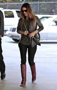 burgundy boots. these boots are beautiful!