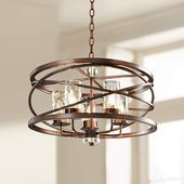Eternity Etruscan Bronze 24 Wide Chandelier - Bronze Lights - Ideas of Bronze Lights Dining Room Light Fixtures, Kitchen Chandelier, Bronze Chandelier, 5 Light Chandelier, Chandeliers, Bronze Pendant, Lamp Light, Entryway Chandelier, Globe Chandelier