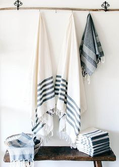 Some crisp, clean, and soft foutas are a bathroom essential in our home! Where do you use your fouta??  www.foutacolors.com