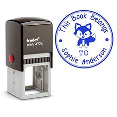 Blue Ink, Self Inking Personalized Teacher Stamp This Boo... https://www.amazon.com/dp/B01M3NJORS/ref=cm_sw_r_pi_dp_x_saEaybPN2GESA